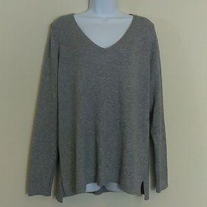Old Navy Gray V Neck Soft Knit Sweater XL